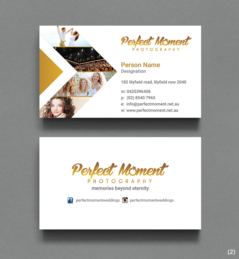 Serious, Modern, Wedding Photography Business Card Design for New ...