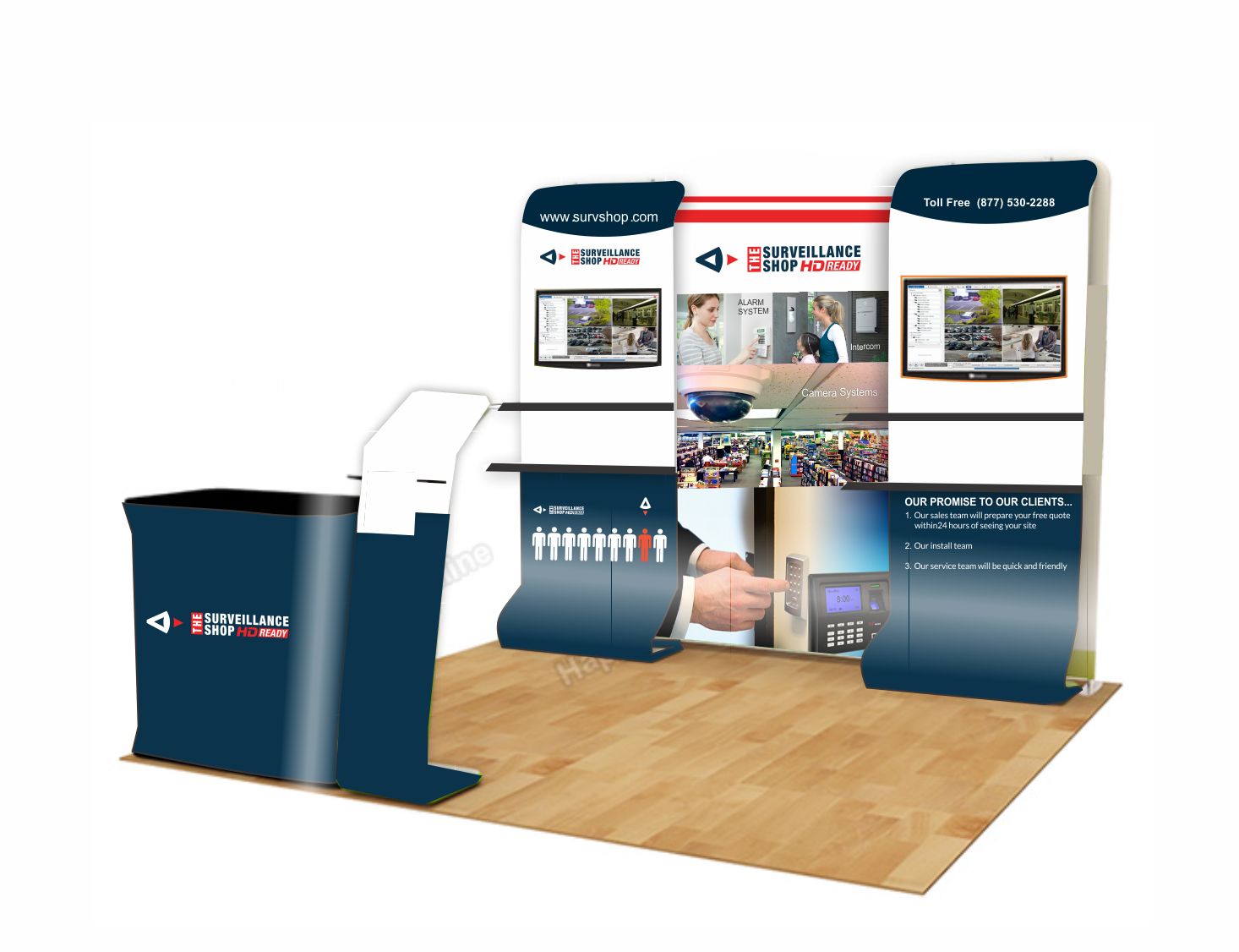Trade Show Booth Layout : Upmarket bold digital trade show booth design for a