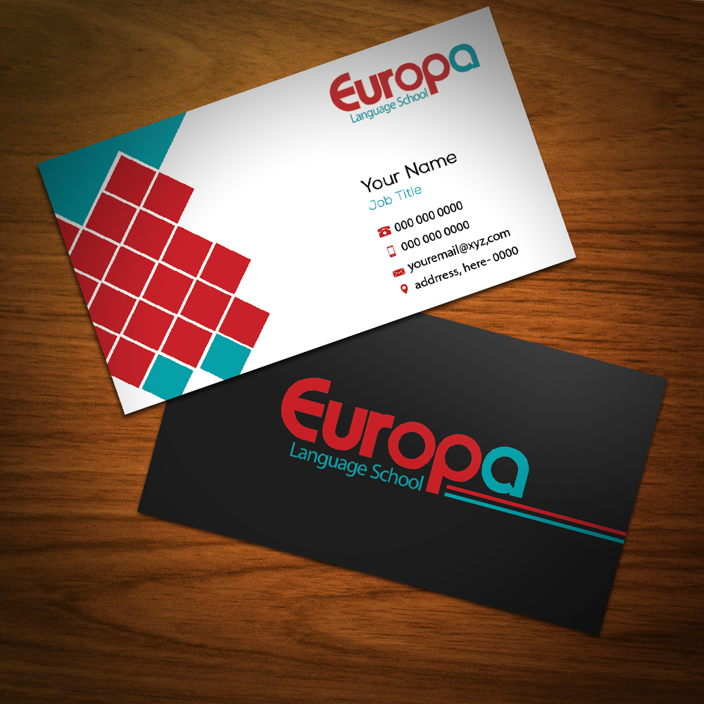 Modern professional education business card design for a company business card design by riz for this project design 12302648 colourmoves