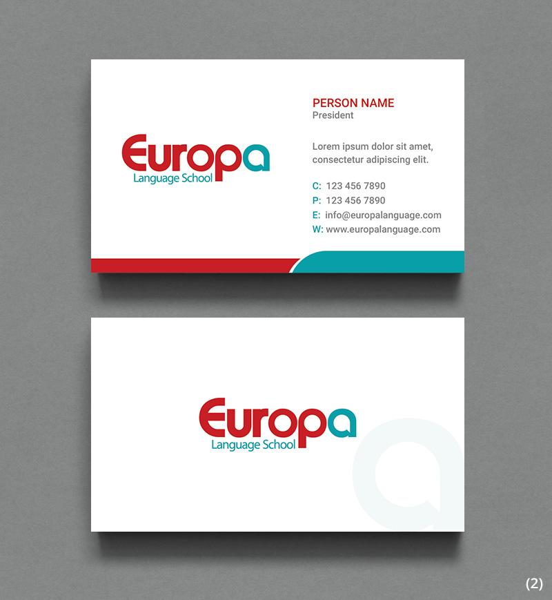Design De Carte Visite Moderne Professionnelle Education Pour A Company En Aux Canada