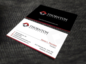 Serious modern business card design job business card brief for business card design job thornton amp associates llc business card 2016 winning reheart Images
