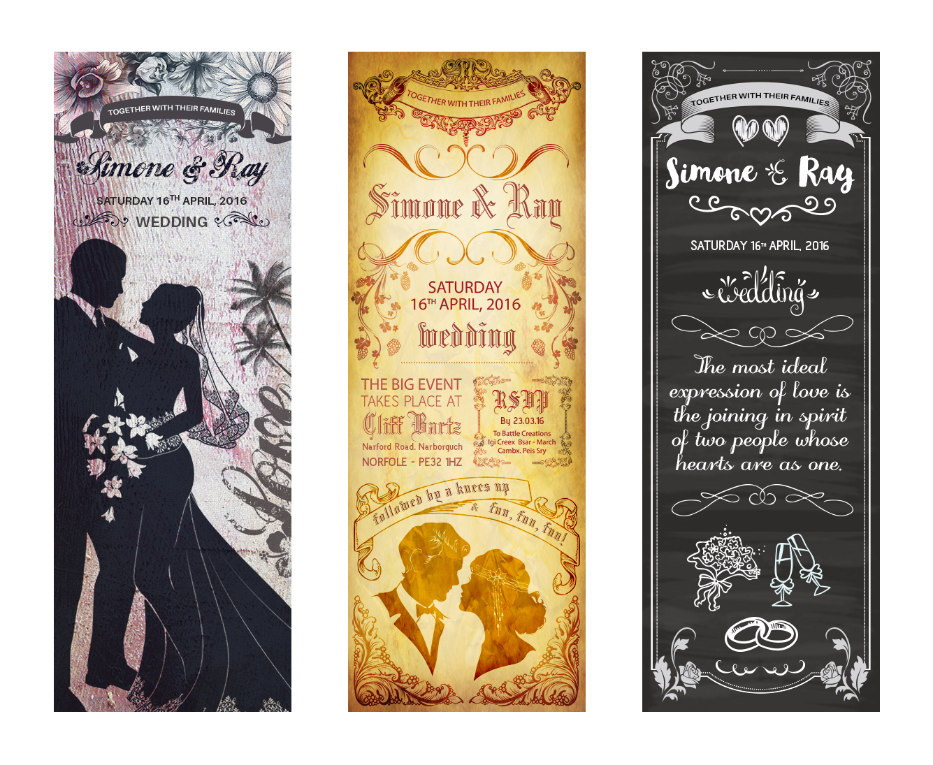 Wedding Poster Templates PSD Format