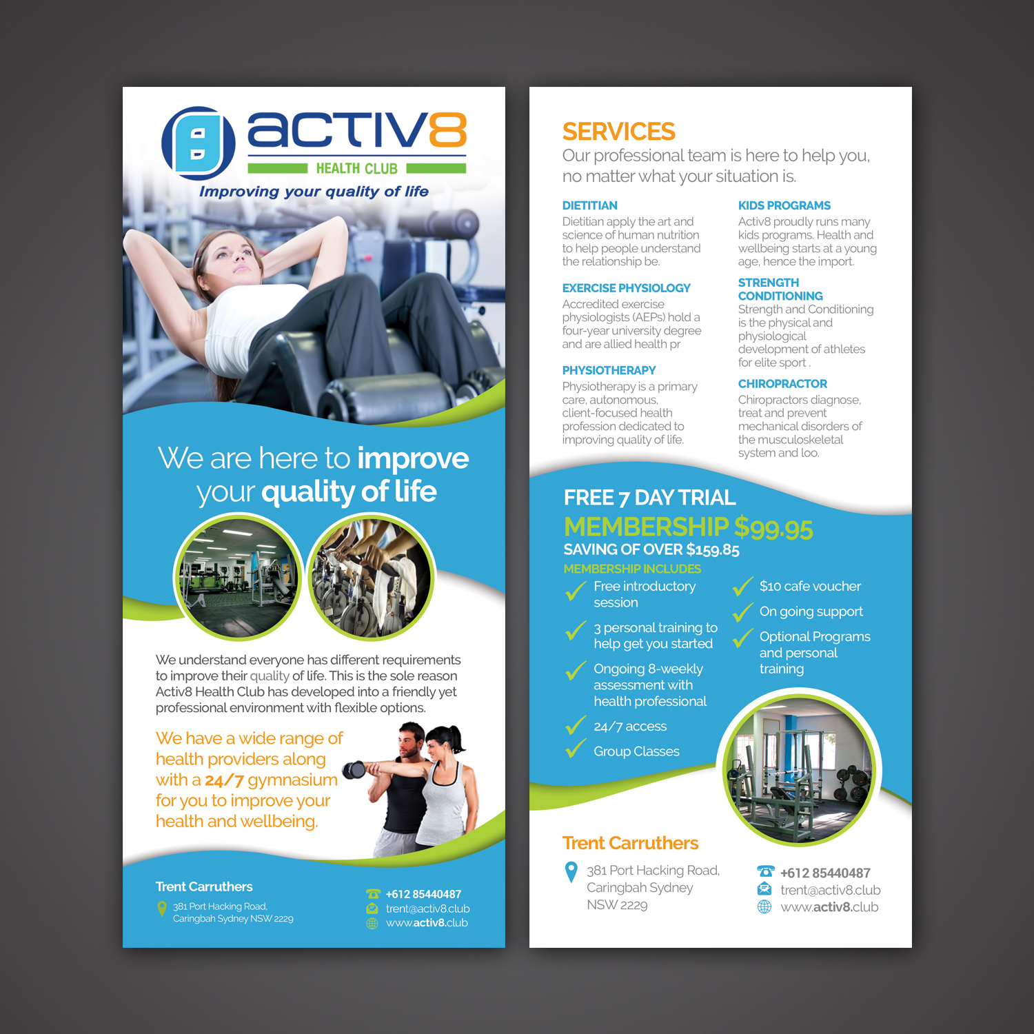 Modern, Professional, Health And Wellness Flyer Design for a Company