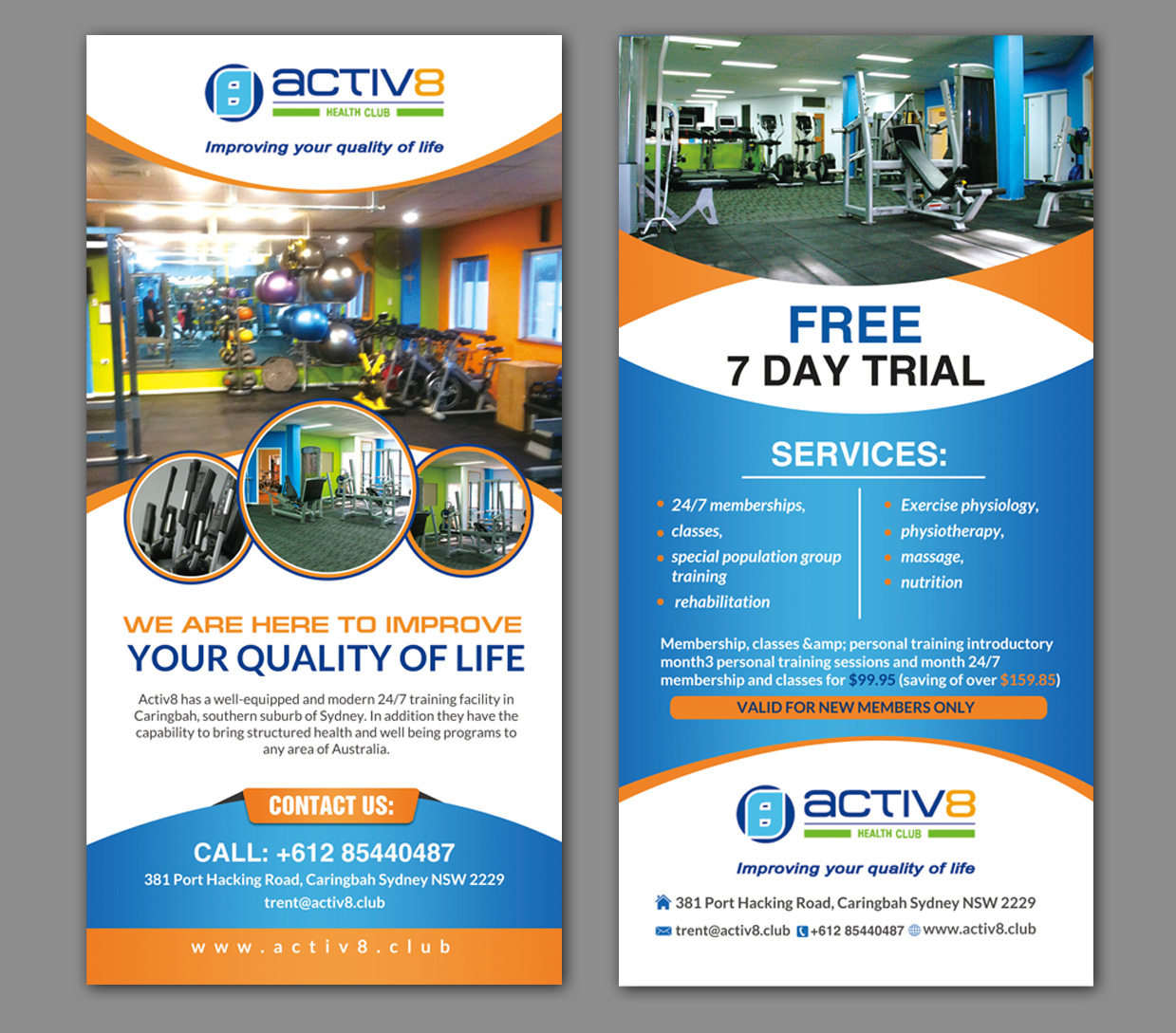 modern professional health and wellness flyer design for a company