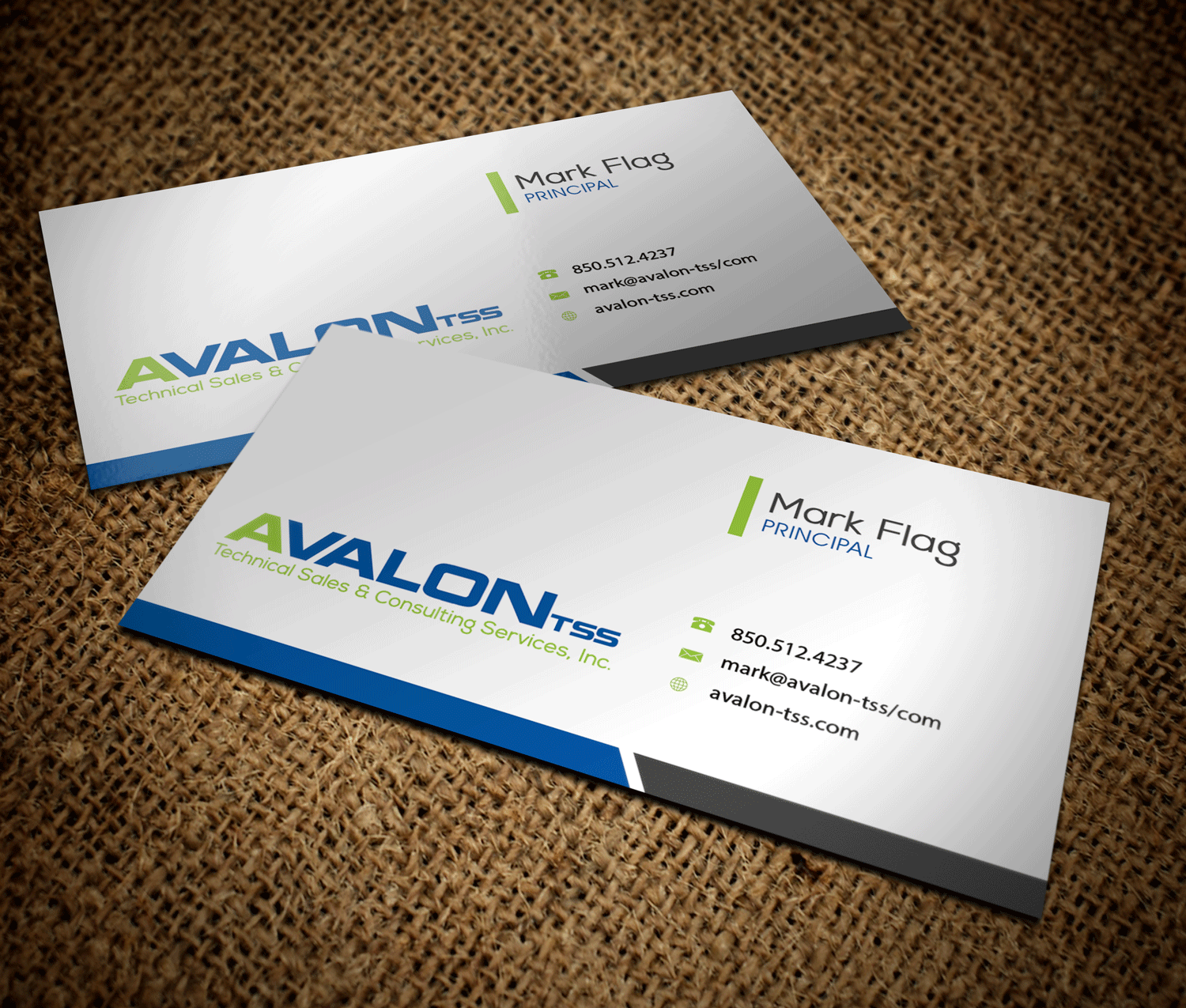 Serious, Professional Business Card Design for Avalon TSS by Riz ...