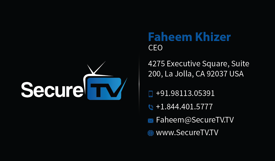 Professional serious cable tv business card design for secure tv business card design by mediaproductionart for secure tv design 12365259 reheart Image collections