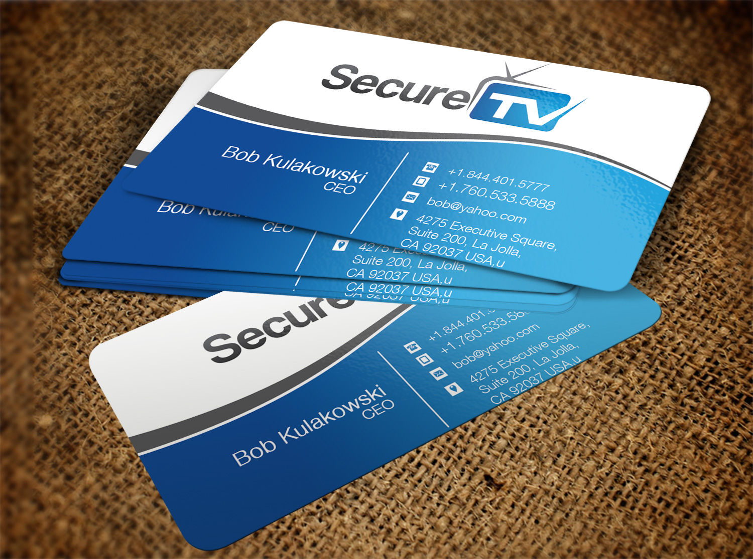 Professional serious cable tv business card design for secure tv business card design by pawana designs for secure tv design 12323750 reheart Image collections