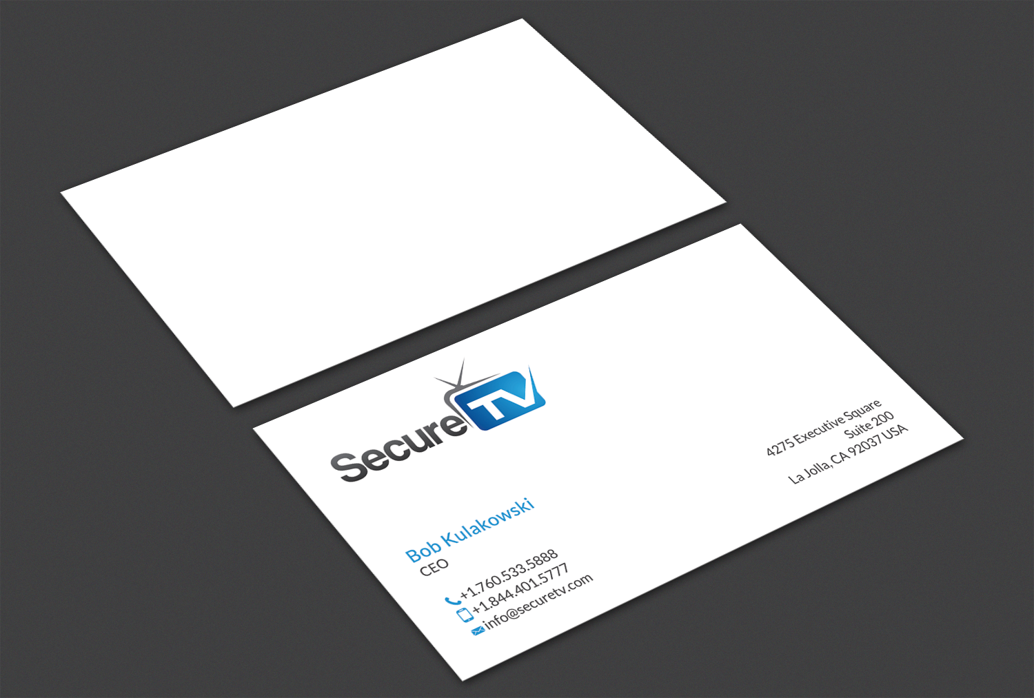 Professional serious cable tv business card design for secure tv business card design by alaminenterprise for secure tv design 12333084 reheart Image collections
