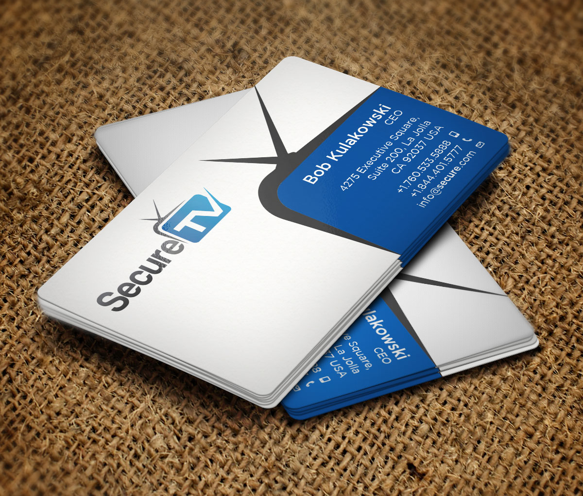 Professional serious cable tv business card design for secure tv business card design by design xeneration for secure tv design 12351602 reheart Image collections