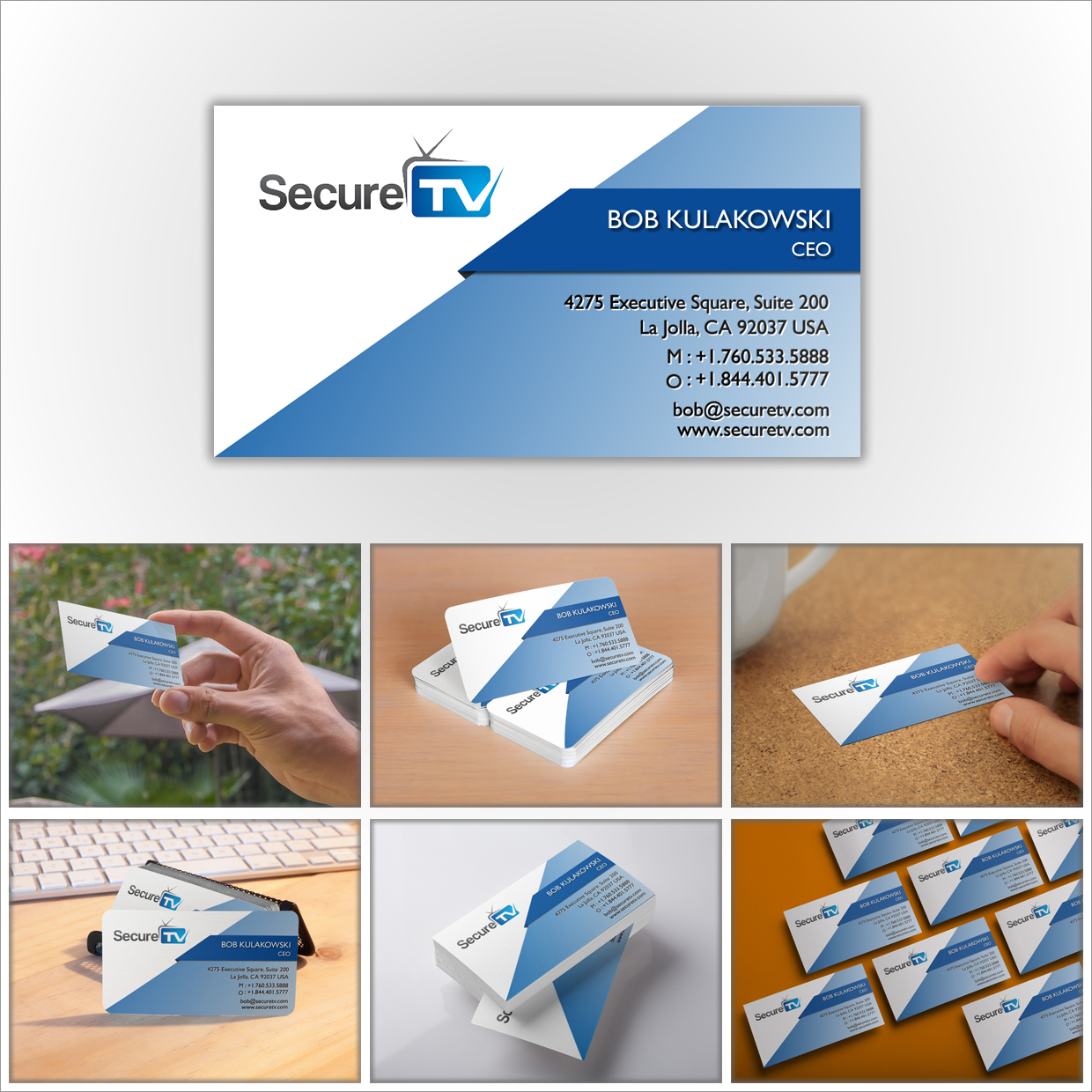 Professional serious cable tv business card design for secure tv business card design by seda for secure tv design 12326694 reheart Image collections