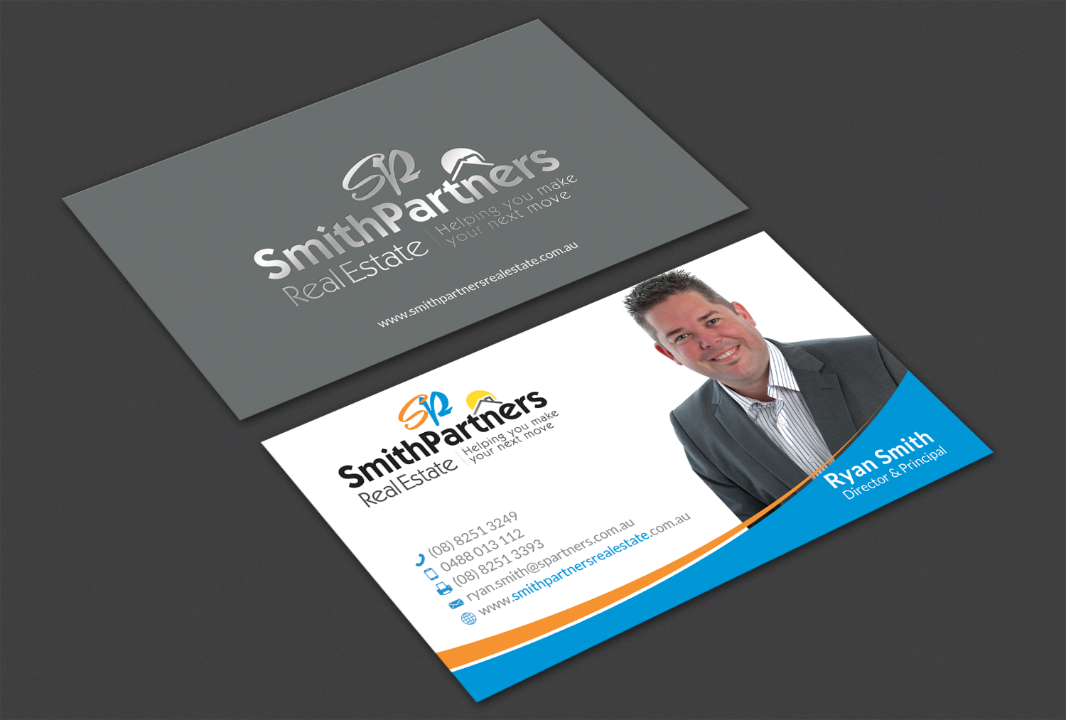 Modern professional real estate agent business card design for business card design by alaminenterprise for smith partners real estate design 12374809 colourmoves