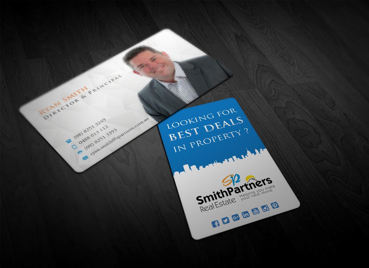 Modern, Professional, Real Estate Agent Business Card Design for ...