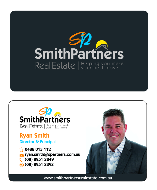 Business Card Design By Pakkela1977 For Smith Partners Real Estate
