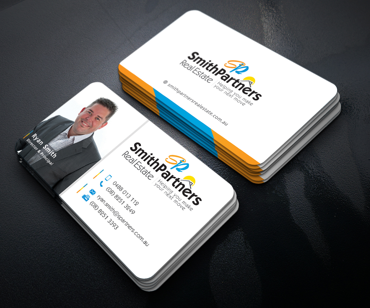 Modern professional real estate agent business card design for business card design by graphic flame for smith partners real estate design 12329348 colourmoves