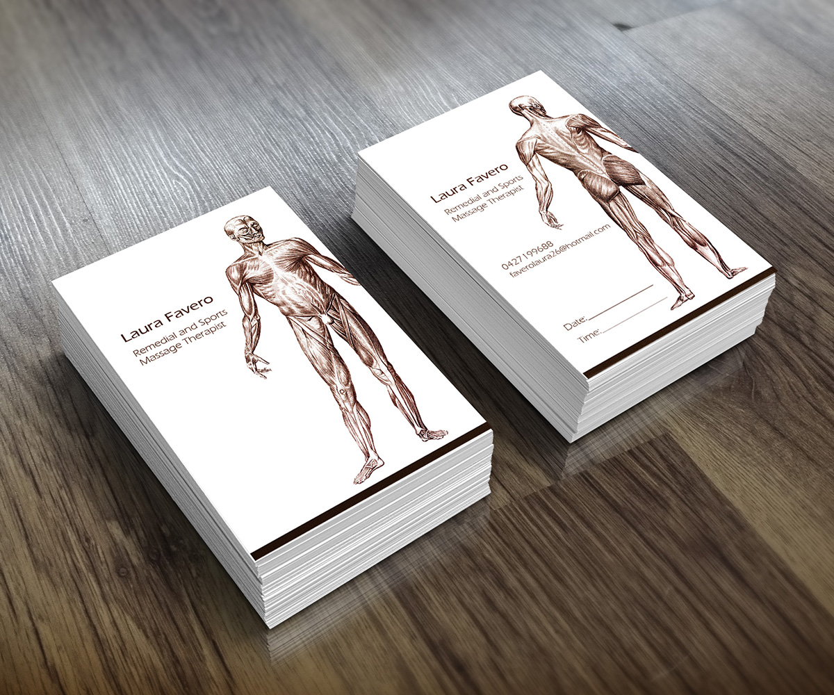 31 Professional Massage Business Card Designs for a