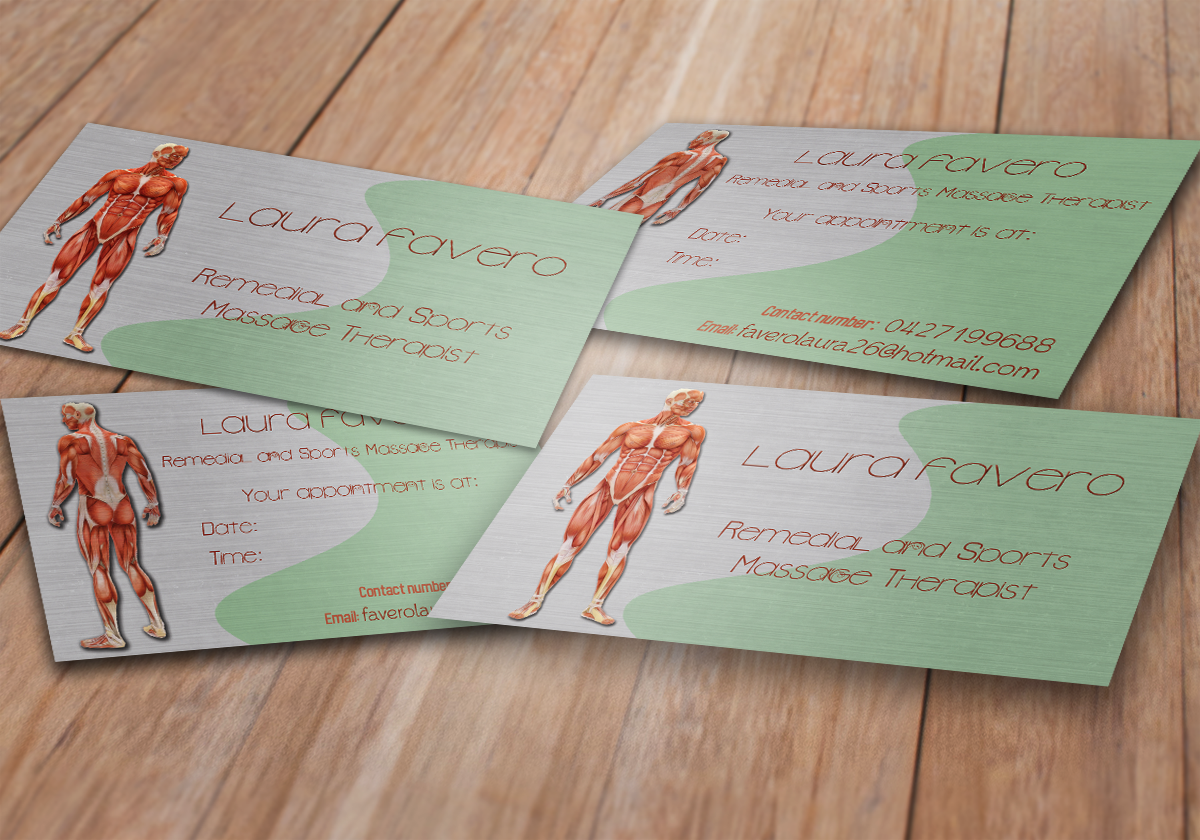 27 Business Card Designs | Massage Business Card Design Project for ...