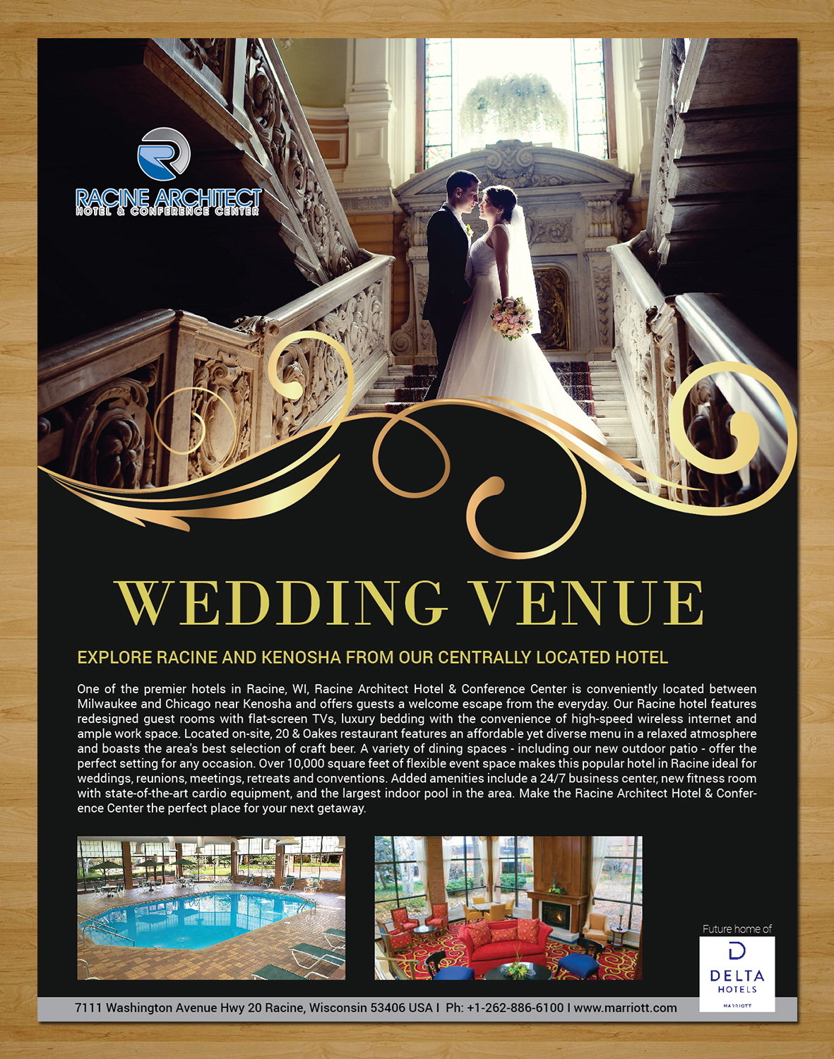 modern professional wedding flyer design for a company by