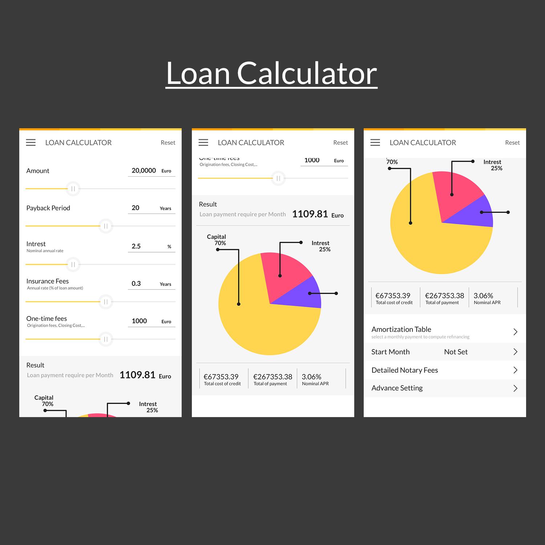 upmarket elegant loan app design for dc labs by designcarry
