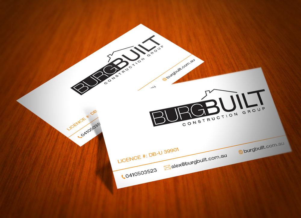 Modern upmarket business card design for alex fridburg by dragos business card design by dragos for burg build business cards design 2399211 colourmoves Gallery