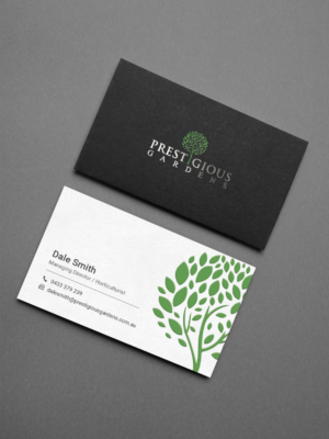 business card design design 13006277 submitted to prestigious gardens simple classy business card - Garden Design Business Cards
