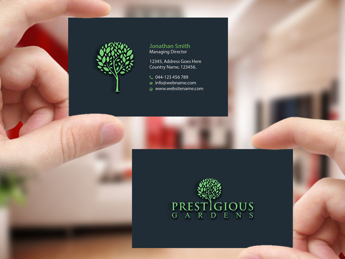 Feminine serious gardener business card design for a company by business card design by creations box 2015 for this project design 13010263 colourmoves