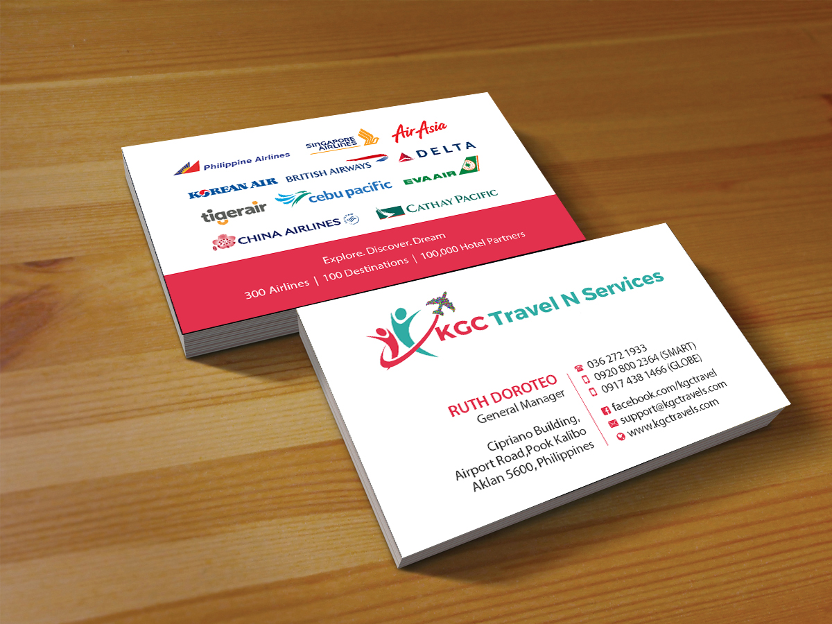 Bold, Professional Business Card Design for KGC TRAVEL N SERVICES ...