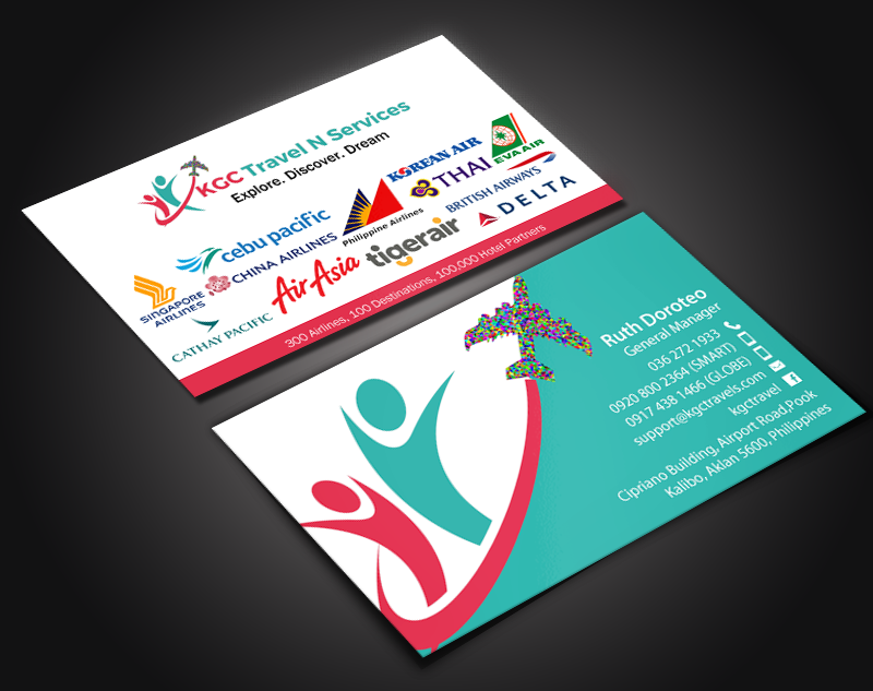 Business Card Design By Chandrayaancreative For KGC TRAVEL N SERVICES