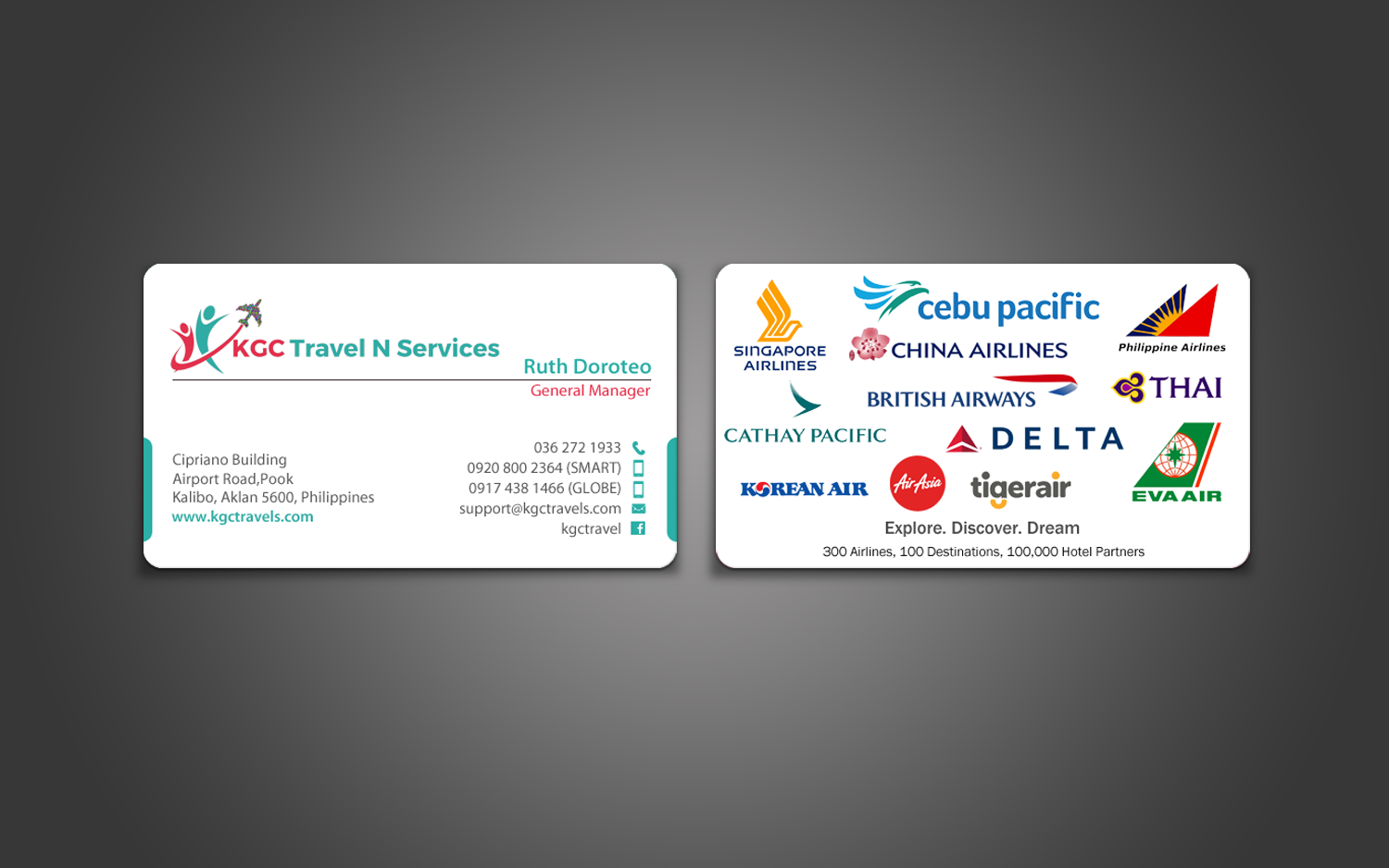 Bold, Professional, Travel Industry Business Card Design for KGC ...