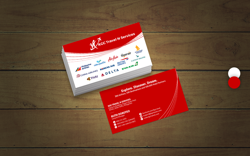 Bold Professional Travel Industry Business Card Design For Kgc N Services In Philippines 12366168