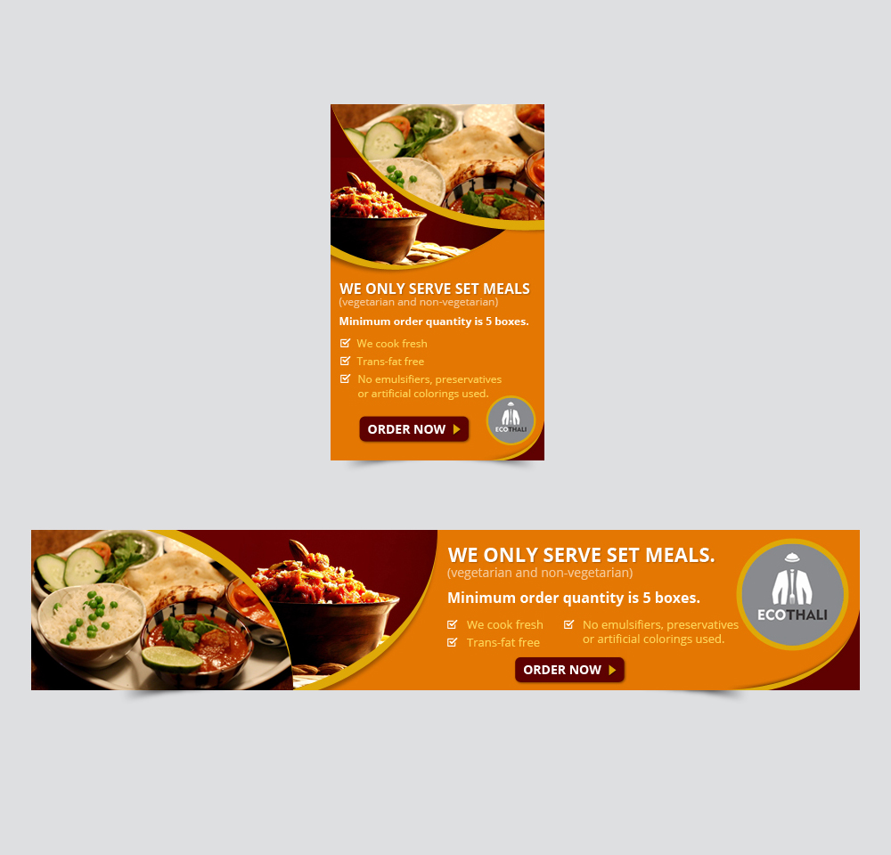 Design google banner ads - Banner Ad Design By Studio33in For Indian Lunch Delivery Company Needs A Google Ad Banner For