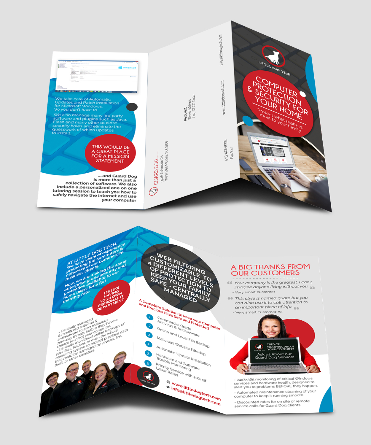 serious modern computer repair flyer design for a company by