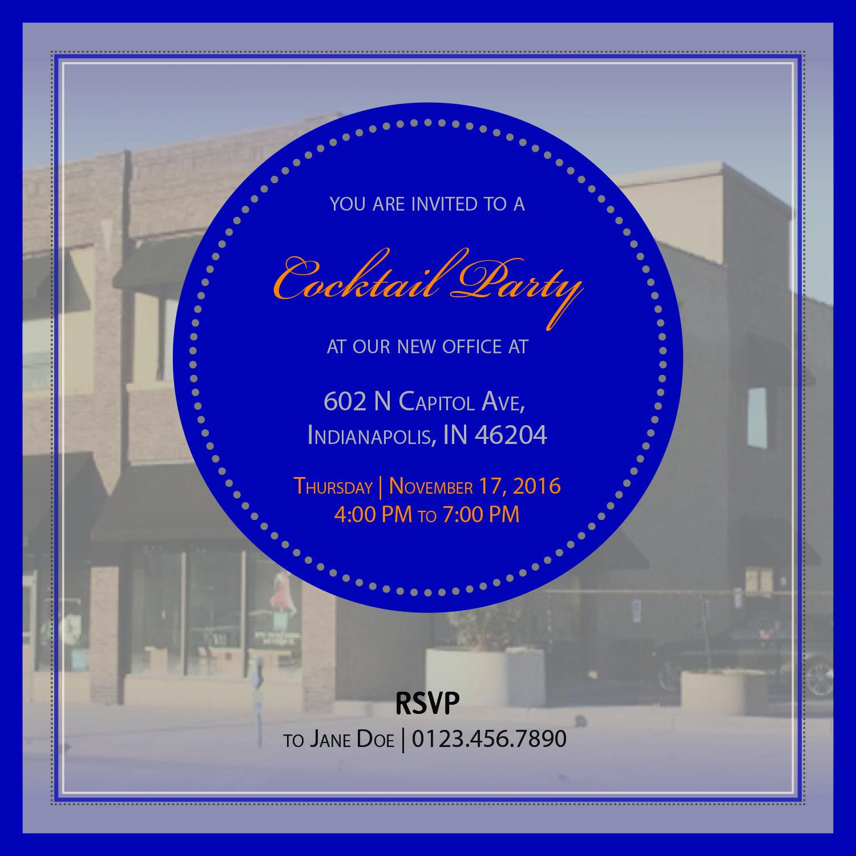 elegant serious real estate invitation design for barratt asset