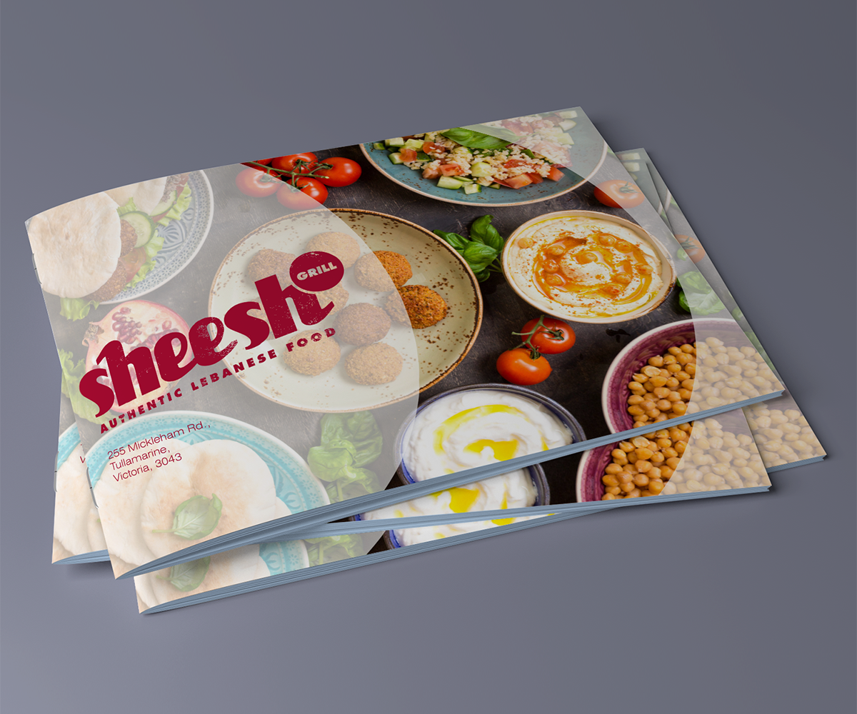 Bold playful restaurant catalogue design for a company