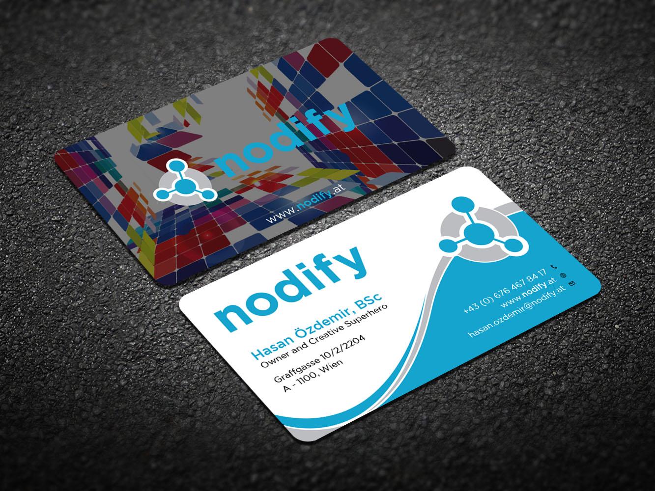 Traditional, Bold, Software Business Card Design for nodify e.U. by ...