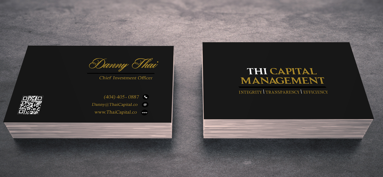 Elegant, Serious, Investment Business Card Design for Thai Capital ...