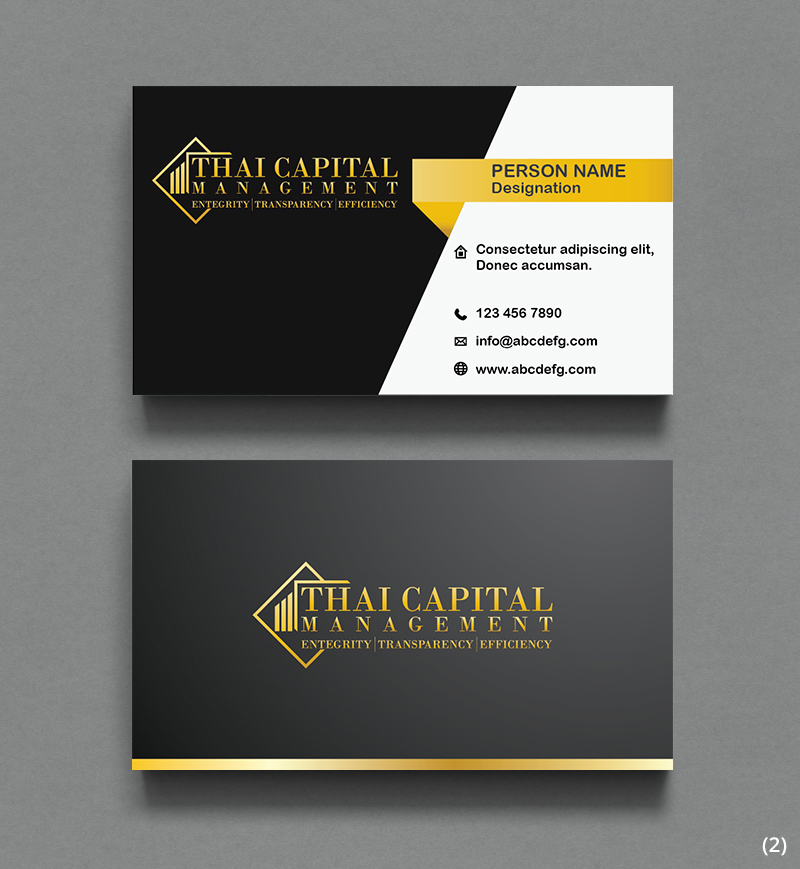Elegant, Serious Business Card Design for Thai Capital Management by ...