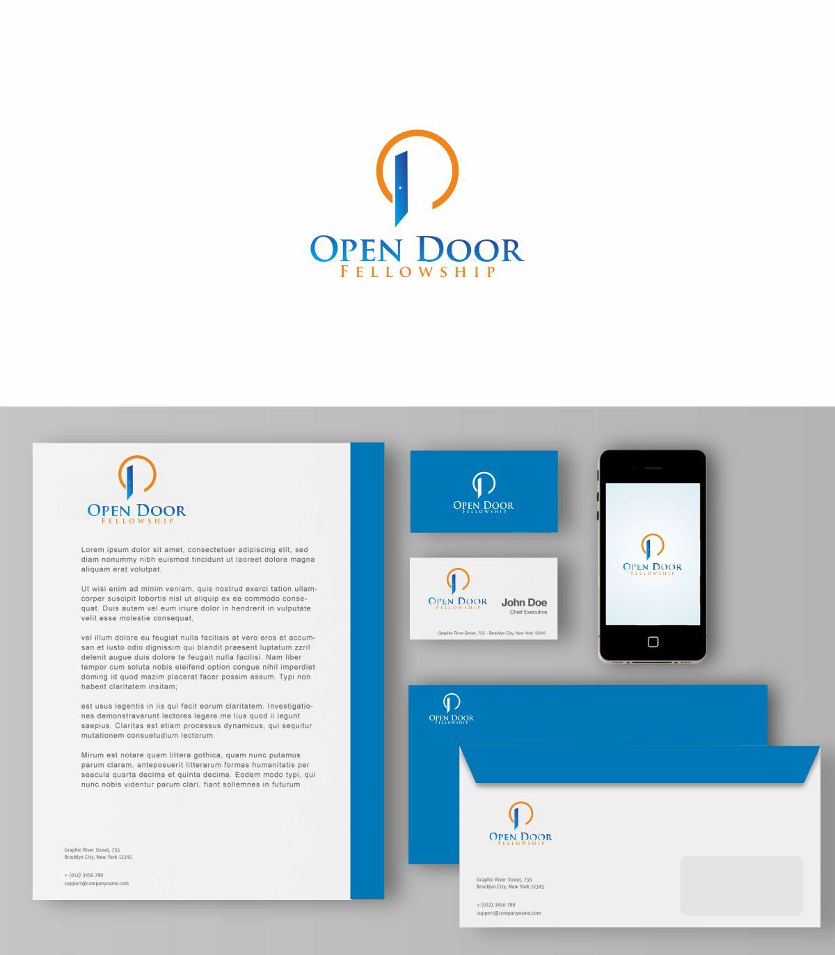 Logo Design by Pauljohnny for Open Door Fellowship - Relaunch Logo - Design #12427198  sc 1 st  DesignCrowd & Bold Modern Logo Design for Open Door Fellowship by Pauljohnny ...