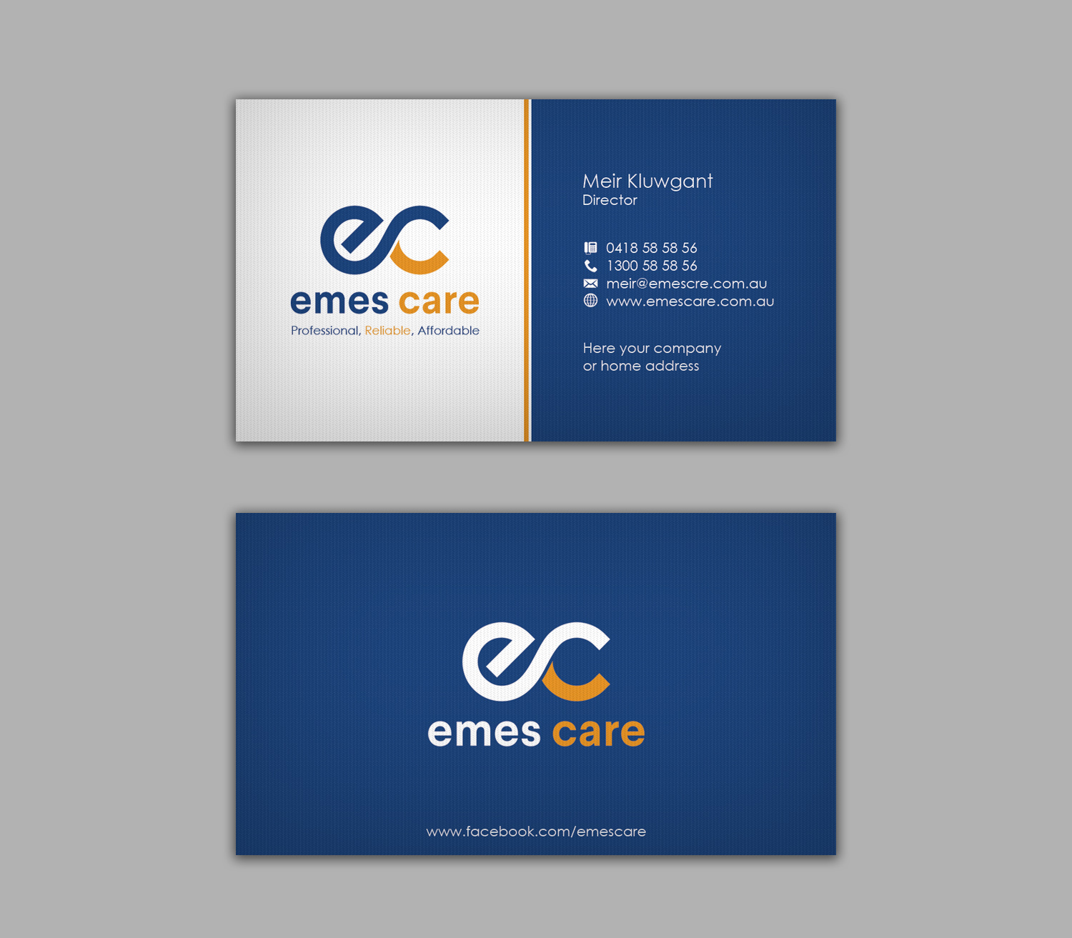 Professional, Serious, Health Care Business Card Design for MSK ...