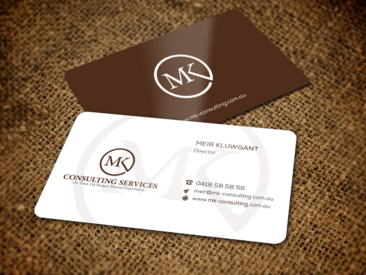 Serious professional consulting business card design for msk business card design by snowymasterdesigns for msk enterprises pl design 12375904 reheart Gallery