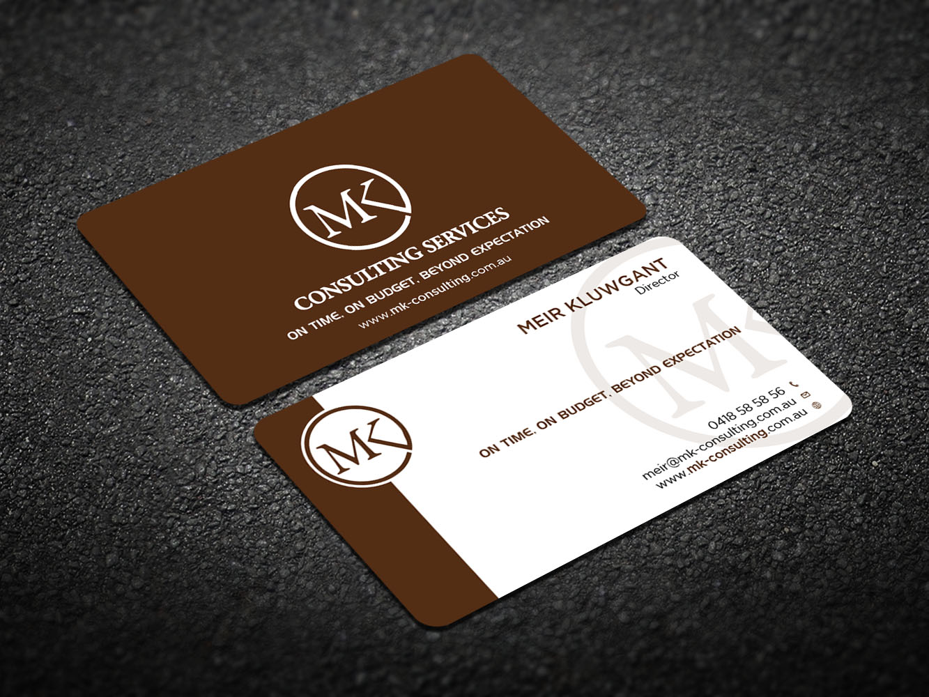 Serious professional consulting business card design for msk business card design by design xeneration for msk enterprises pl design reheart Gallery