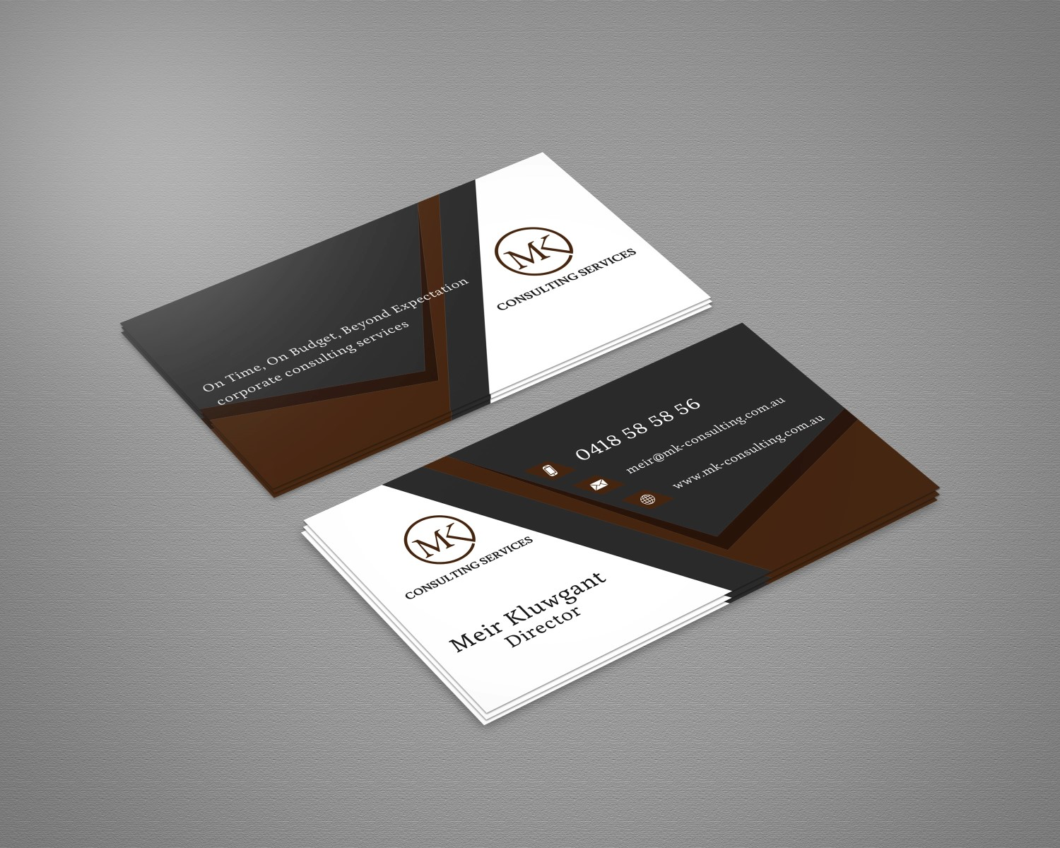Serious, Professional, Consulting Business Card Design for MSK ...
