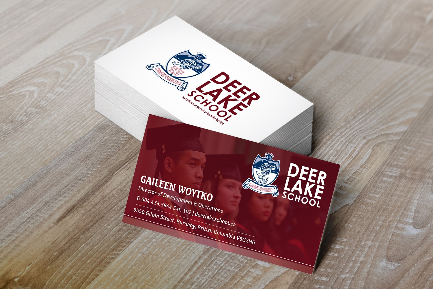 Modern professional education business card design for deer lake business card design by kreative fingers for deer lake school design 12382982 reheart Gallery