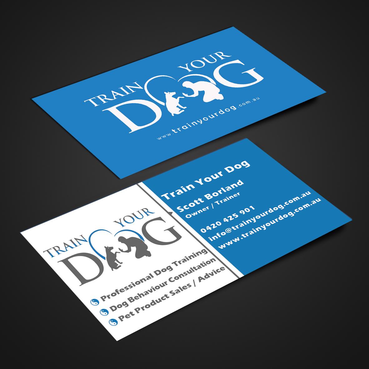 Upmarket, Modern, Training Business Card Design for Train Your Dog ...