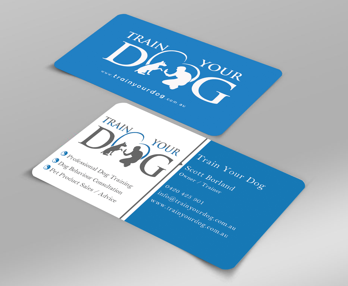 Upmarket, Modern Business Card Design for Train Your Dog by ...