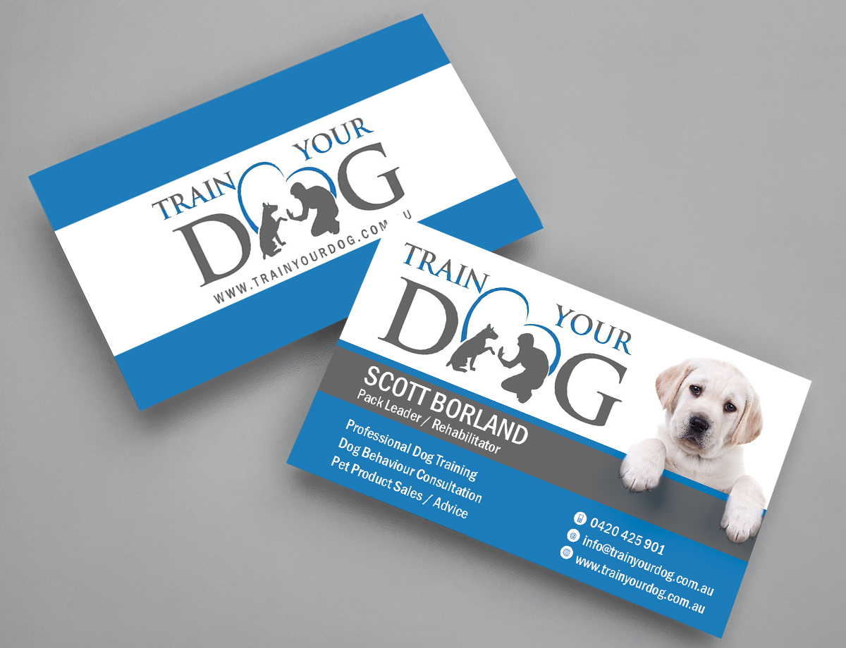 Upmarket, Modern Business Card Design for Train Your Dog by Mila ...