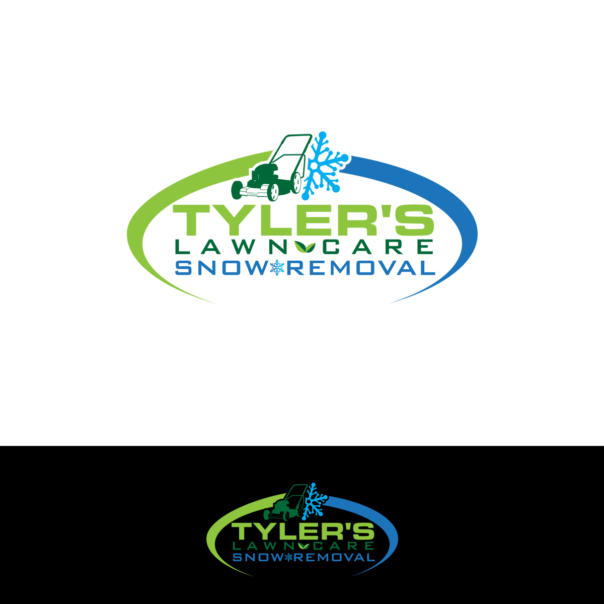 modern bold logo design for tylers lawn care by