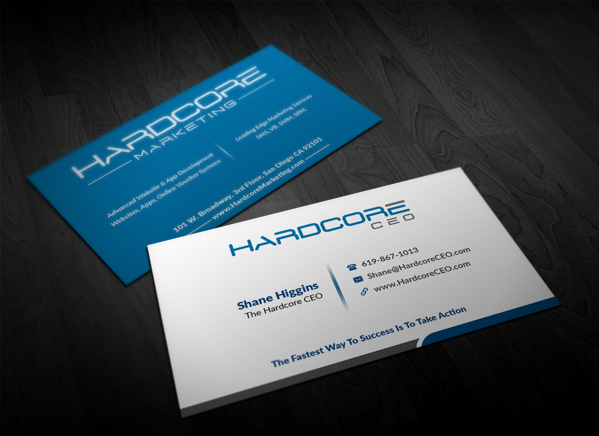 Modern Professional Business Consultant Business Card Design For