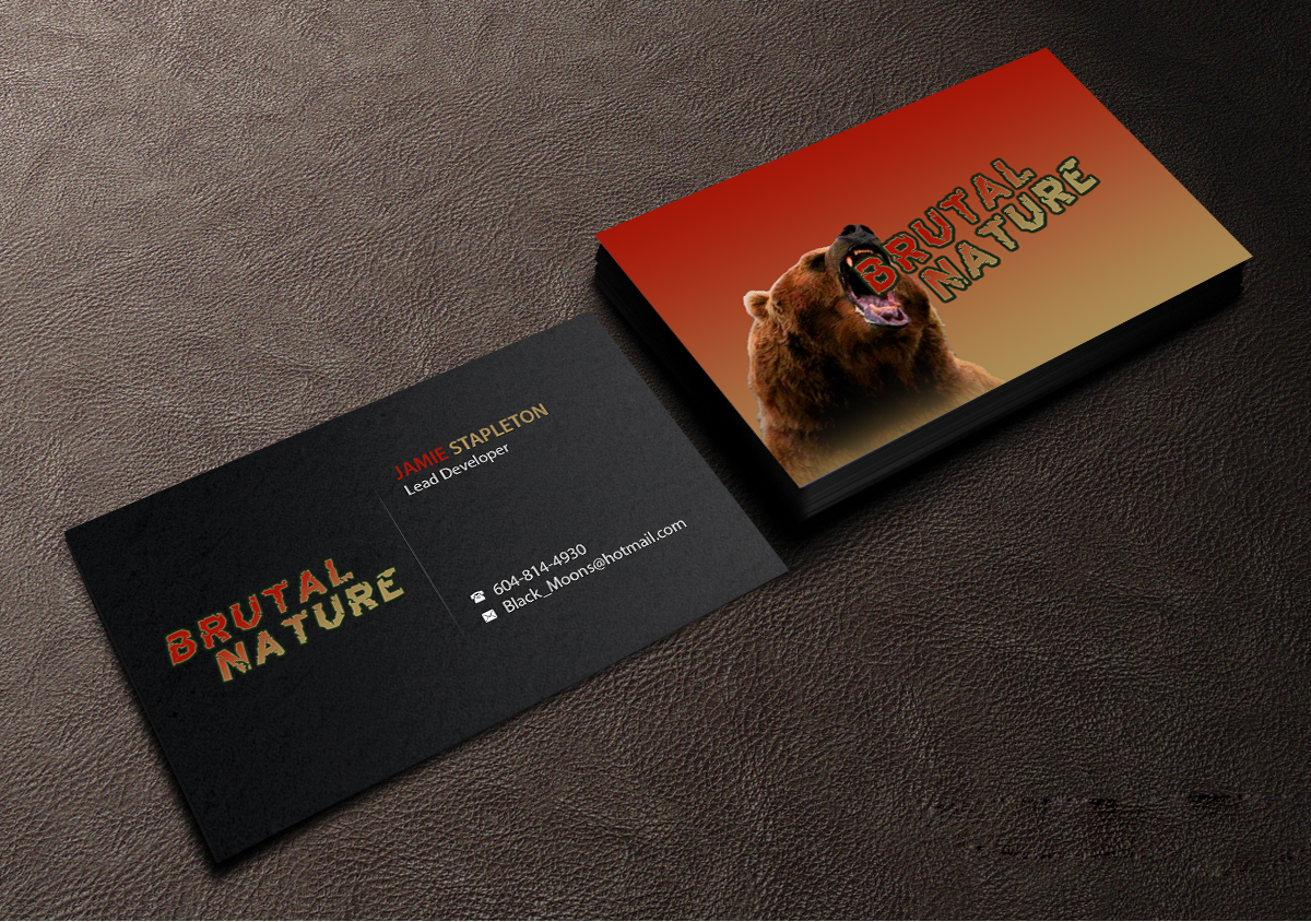 Serious masculine games business card design for a company by business card design by creations box 2015 for this project design 12412218 reheart Image collections