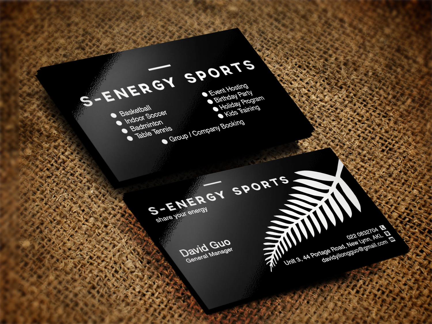Modern, Masculine, Recreation Business Card Design for S-energy ...