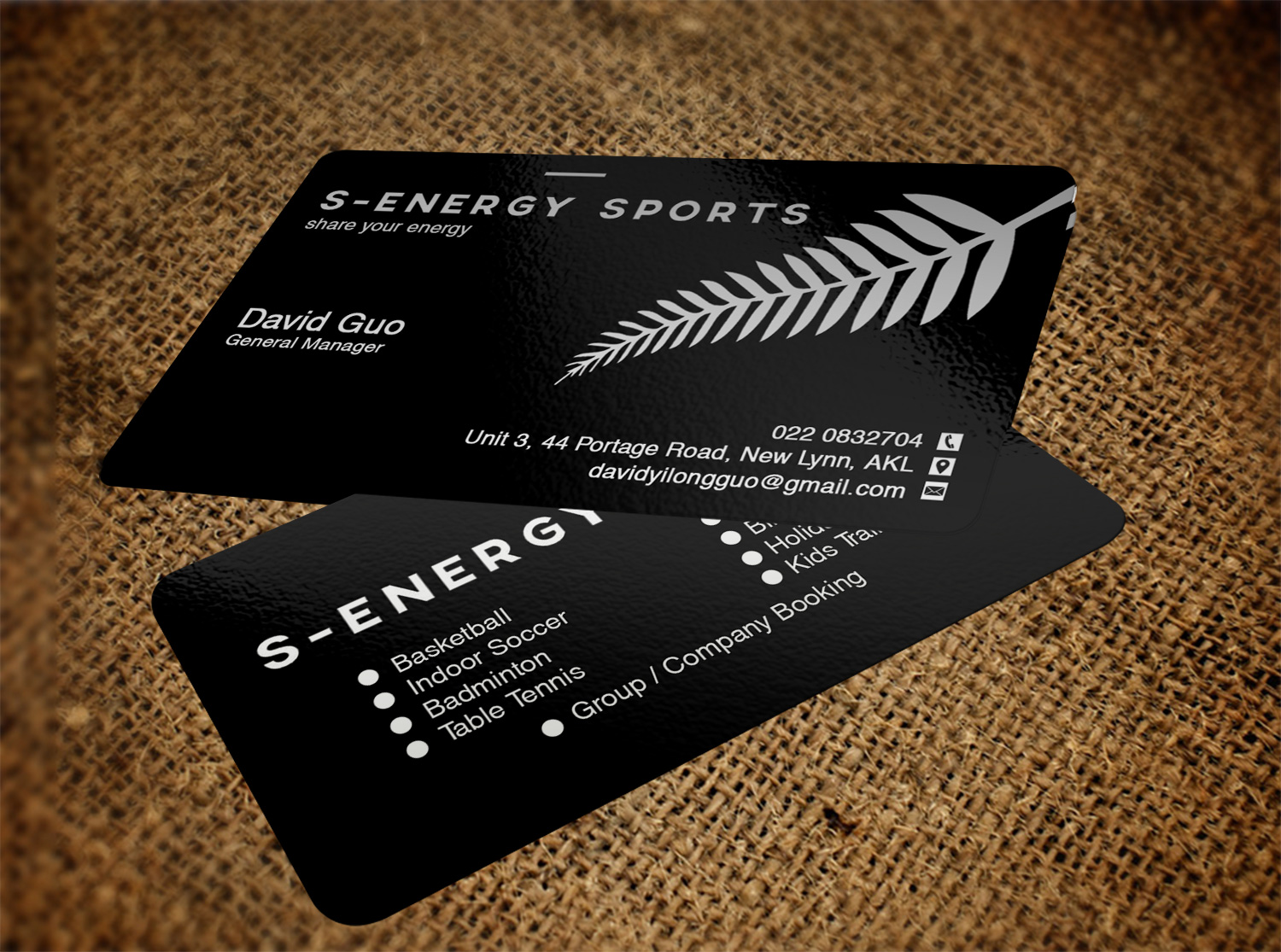 Modern, Masculine Business Card Design for S-energy Sports by Pawana ...